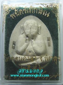 พระปิดตาจัมโบ้ รุ่นพยัคฆ์ทักษิณ เนื้อผงว่านสีขาว โรยขนเสือตะกรุดเงิน 9 ดอก วัดดอนศาลา จ.พัทลุง(1)
