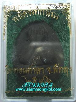 พระปิดตาจัมโบ้ รุ่นพยัคฆ์ทักษิณ เนื้อผงว่านสีดำ โรยขนเสือตะกรุดเงิน 3 ดอก วัดดอนศาลา จ.พัทลุง(5)
