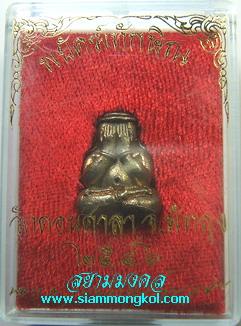 พระปิดตาหลังดอกจันทน์ รุ่นพยัคฆ์ทักษิณ ก้นอุดผงปิดหนังเสือ เนื้อนวะโลหะ วัดดอนศาลา จ.พัทลุง(1)