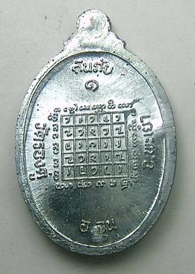 เหรียญกันภัยรุ่นแรก เนื้อดีบุก หลวงปู่ครูบาแก้ว วัดร่องดู่ จ.พะเยา