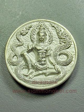 เหรียญจตุคามรามเทพ รุ่นราชาทรัพย์ กะไหล่เงิน วัดสุขุม จ.นครศรีธรรมราช