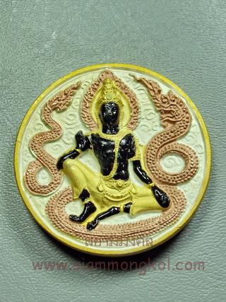 เหรียญจตุคามรามเทพ รุ่นราชาทรัพย์ ชุบ 3 กษัตริย์ วัดสุขุม จ.นครศรีธรรมราช