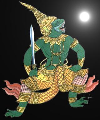 พญาพาลี หลวงปู่หงษ์ วัดเพชรบุรี จ.สุรินทร์ :02419