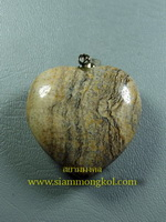 หินรูปหัวใจ picture jasper:02475