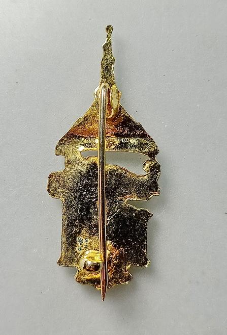 เข็มกลัดที่ระลึก สธ. ปี 2529 ที่ระลึกในงานราชพิธีเปิดอนุสาวรีย์ ร.6